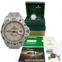 Rolex Oyster Perpetual Date Explorer II 2 Steel Rare Cream...