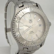 TAG Heuer Mens Tag Heuer Link 200m Stainless Steel Date Silver...