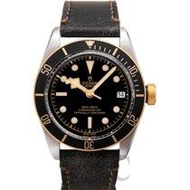 튜더 (Tudor) Heritage Black Bay S&G Black Steel/Leather 41mm...