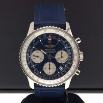 Breitling Navitimer 42mm Steel A23322  Chronograph Blue Dial...
