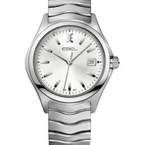 Ebel Wave Gent Stainless Steel Bracelet, Silver Dial, Date