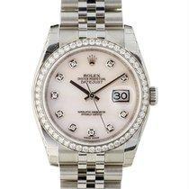 Rolex Datejust 36mm In Acciaio E Diamanti Ref. 116244