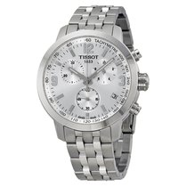 Tissot PRC 200 Chronograph Silver Dial Stainless Steel...