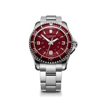 Victorinox Swiss Army Maverick large red dial and bezel, steel...
