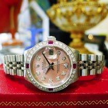Rolex Datejust Pink Mother-of-pearl Diamond Bezel And Diamond...
