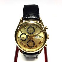 Festina 18k Solid Yellow Gold Men's Watch W/ Gold Dial And...