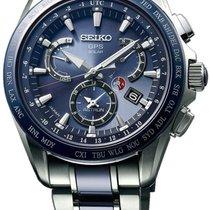 Seiko Astron Solar GPS Dual-Time Titanium Men's Watch SSE043