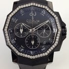 Corum Admiral's Cup Challenger 40 Chrono Black + Diamonds...