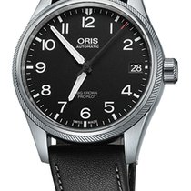 Oris Big Crown ProPilot Date, Black Dial, Leather Bracelet