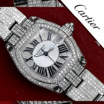 Cartier Custom Set Diamonds Original Cartier Roadster Black...