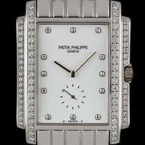 Patek Philippe 18k White Gold White Dial Dia Set Gondolo...