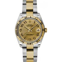 Rolex Datejust Ladies Midsize 178273-CHPCAO Champagne Concentr...