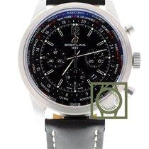 ブライトリング (Breitling) Transocean Chrono Unitime 46mm Black Dial...