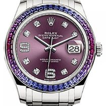 Rolex Pearlmaster 39 86349SAFUBL Red Grape Diamond Set with...