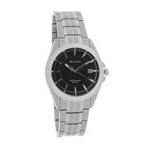 Bulova Precisionist Mens Silver Date Dial Quartz Watch 98B167