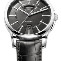 Maurice Lacroix Pontos Day/Date Black Dial, Silver Index,...