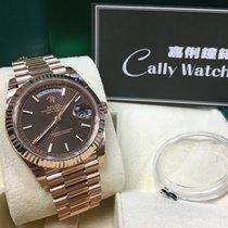 Ρολεξ (Rolex) Cally - Day-Date 40mm 228235 CHOCOLATE INDEX 朱古力條字面