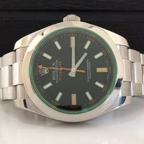 Rolex Milgauss Green Sapphire Black Dial Impecável Completo