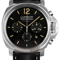 Panerai Contemporary Luminor Chrono Daylight Stainless Steel...