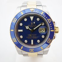 롤렉스 (Rolex) Submariner Two Tone Diamonds Blue