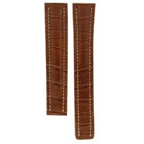 Breitling Brown (xl) Crocodile Leather Strap For Deployment...