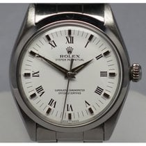 Rolex Vintage Oyster Perpetual 1002 Steel Polished White Dial...
