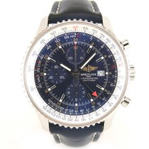 Breitling Navitimer GMT Full set A24322 leather and steel strap