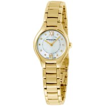Raymond Weil Mother Of Pearl Diamond Dial Yellow Gold Ladies...