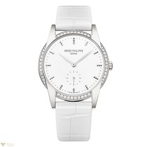 Patek Philippe Calatrava White Dial White Gold 33mm Ladies Watch