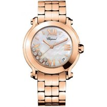 Chopard Happy Sport Round Quartz 36mm 18K Rose Gold