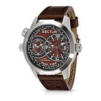 Sector R3251102055 - OVERSIZE Dual Time, Man, diam. 57x48 mm