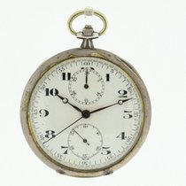 Antique Stopwatch 925 Sterling Silver Running (955)