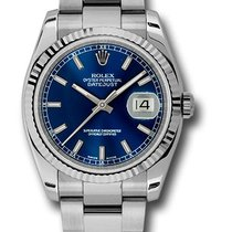 Rolex 116234 Oyster Datejust Stainless Steel&18K White...