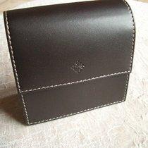 Patek Philippe Reiseetui aus dunkelbraunem Leder