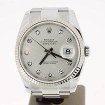 Rolex Datejust 36mm Steel Oyster SilverDiamondDial (BOX2008) MINT