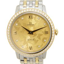 Omega De Ville Gold Steel Diamond Gold Quartz 424.25.33.60.58.001