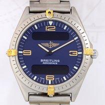 ブライトリング (Breitling) Aerospace Titan blue dial Titan/Gold...