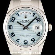 Rolex Platinum Ice Blue Wave Arabic Dial Day-Date Gents...