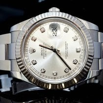 Rolex 2012 41mm Datejust II, Silver Dia Dot, Box & Papers