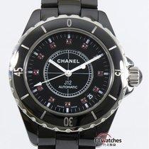 香奈儿 (Chanel) J12 Black Ceramic Ruby Dial H1635 Box Papers