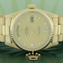 Rolex President Day-Date 18K Gold 36MM Factory Diamond Dial...