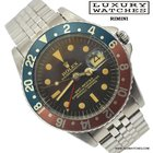Rolex GMT Master 1675 brown dial SWISS Gilt Radial Underline...