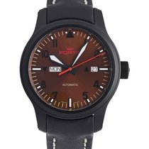 Fortis Aviatis Aeromaster Dusk Watch 42mm Swiss Auto Blk Pvd...