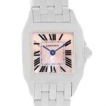Cartier Santos Demoiselle Pink Mop Dial Steel Ladies Watch...