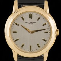Patek Philippe 18k Yellow Gold Silver Dial Calatrava B&P...