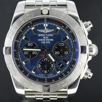 Breitling Chronomat 44MM Steel With Blue Dial, Full Set 2014 MINT