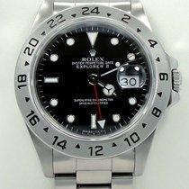 Rolex Explorer II 16570 Gmt Stainless Steel Black Dial Watch...