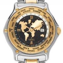 Ebel Voyager Atlas Weltzeituhr GMT Stahl 18kt Gelbgold...