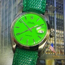 Rolex Oysterdate Precision Steel Green Dial/Strap Automatic...
