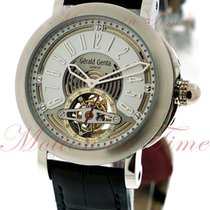 Gérald Genta Arena Tourbillon, White/Silver Dial - Platinum on...